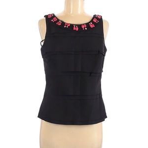 WHBM Bumblebee Bodice Top Tiered NEW Embellished